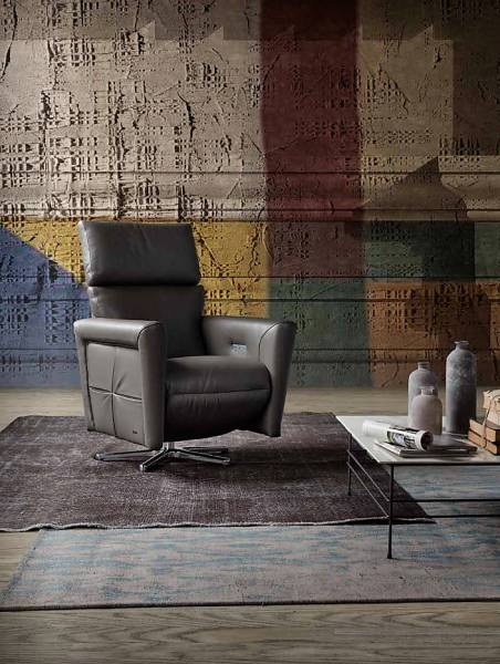 Galileo Leder Design Sessel