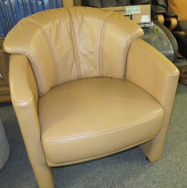 Leder Design Sessel Dino